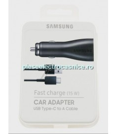 Incarcator auto GSM SAMSUNG EP-LN915C KFZ-INCARCATOR RAPID USB-C, NEGRU INCL. CABLU USB C EP-LN915CBEGWW SAMSUNG H421265